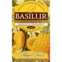 Чай Basilur Волшебные Фрукты Манго и ананас 20 пакетиков черный в картонной упаковке