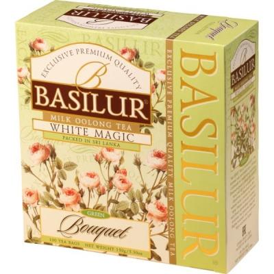 Чай Basilur Букет Белое волшебство White Magic 100 пакетиков улун в картонной упаковке
