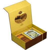 Подарочный набор Basilur Чайный подарок коричневый (Книга том 1 + Фолк Радуга)
