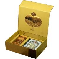 Подарочный набор Basilur Чайный подарок золотой (Книга том 1+ Фолк Радуга)