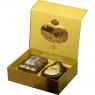 Подарочный набор Basilur Чайный подарок золотой (Остров Спешл+ Ларец Чароит)