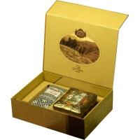 Подарочный набор Basilur Чайный подарок золотой (Ларец Янтарь + Фолк Черно-белый)