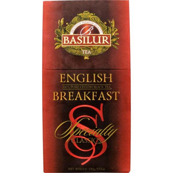 Чай Basilur Избранная Классика Английский завтрак English Breakfast листовой черный 100 гр в картонной упаковке