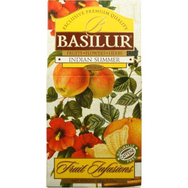 Чай Basilur Фруктовое Вдохновение Индийское Лето листовой Фруктовый 100 гр в картонной упаковке