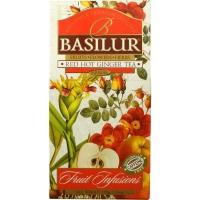Чай Basilur Фруктовое Вдохновение Пряный Имбирь листовой Фруктовый 100 гр в картонной упаковке