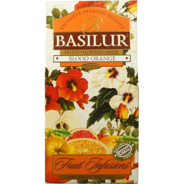 Чай Basilur Фруктовое Вдохновение Красный Апельсин листовой Фруктовый 100 гр в картонной упаковке