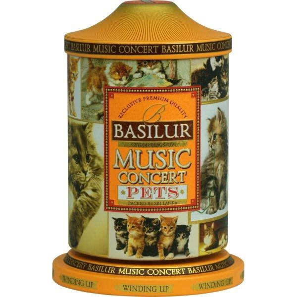 Чай Basilur Музыкальная шкатулка Любимцы Music concert Pets листовой черный 100 гр в жестяной банке