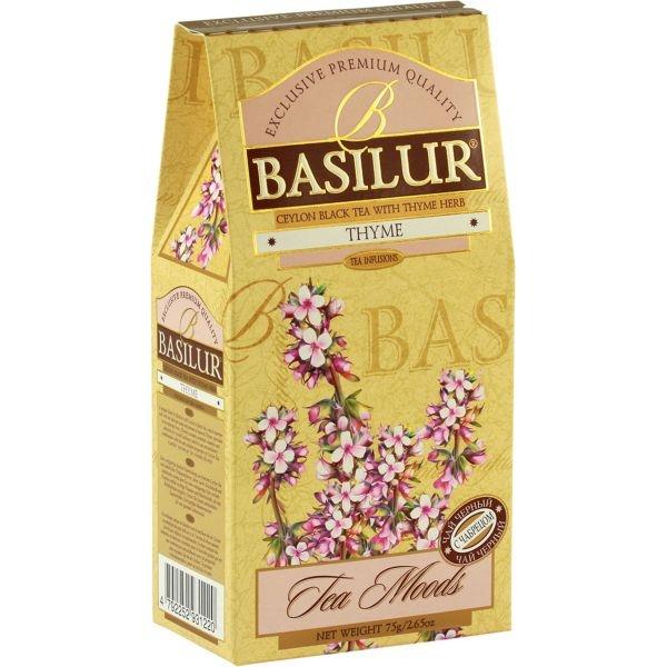 Чай Basilur Чайный Каприз черн. байховый листовой с чабрецом листовой черный 75 гр в картонной упаковке