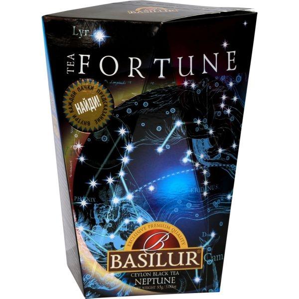 Чай Basilur Фортуна Нептун Neptune листовой черный 85 гр в картонной упаковке