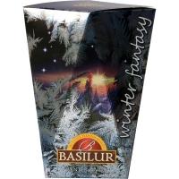 Чай Basilur Зимняя Фантазия Зимний рассвет Winter dawn листовой черный 85гр в картонной упаковке