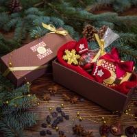 Чайный подарочный набор в шоколадной упаковке Звездное притяжение