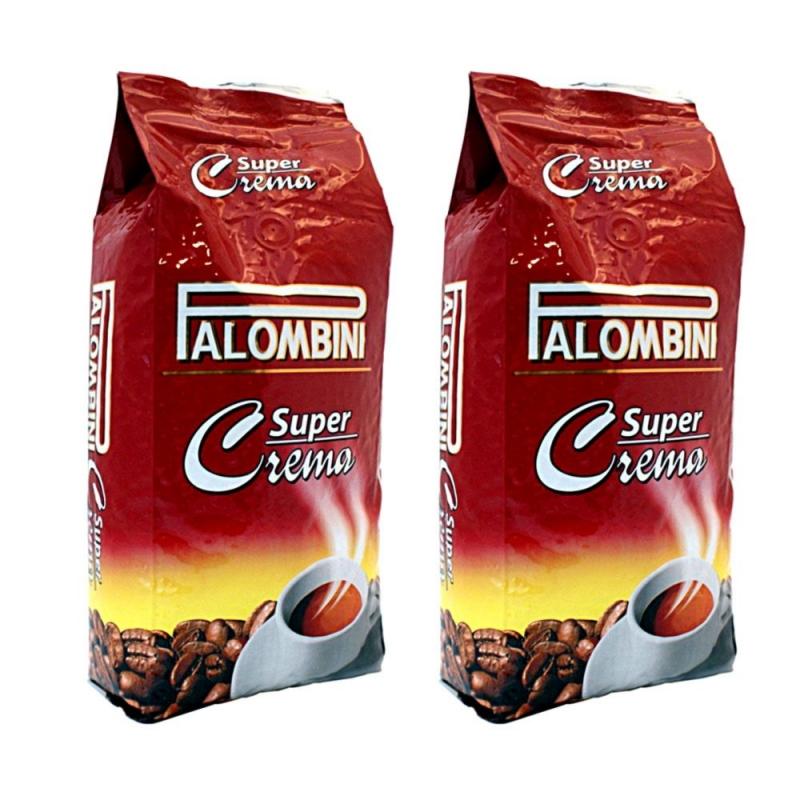 Кофе в зернах Palombini Super Crema 1+1 кг (—50% на 2-ю упаковку)