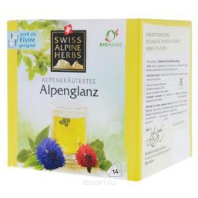 Травяной чай в пакетиках Swiss Alpine Herbs Альпийский гламур 14 шт х по 1 г