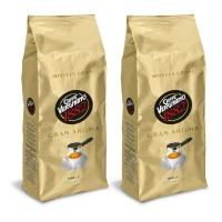 Кофе взернах Vergnano Gran Aroma 1+1кг (—50% на 2-ю упаковку)