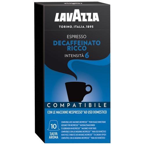 Кофе молотый в капсулах Lavazza Espresso Decaffeinato Ricco 10 шт