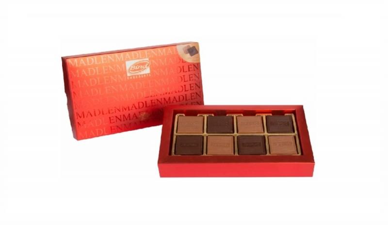 Шоколад BIND Мадлен-ред Плиточки из молочного и темного шоколада + Бандаж НГ 150 г
