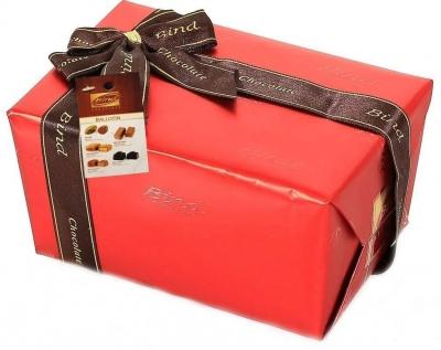 Конфеты BIND Ассорти в красной подарочной упаковке + Елочка НГ 110 г