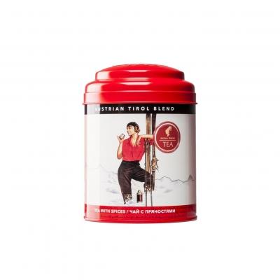 Julius Meinl Тирольский Бленд черный чай с пряностями в жестяной банке 100 гр