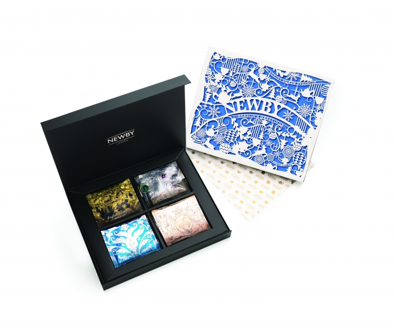 Подарочный набор чая Newby Праздничный в шелковых пирамидках