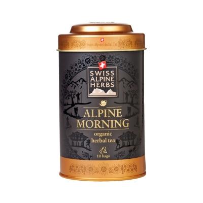 Травяной чай в пакетиках Swiss Alpine Herbs Свежесть Альпийского утра 10 шт х по 1 г