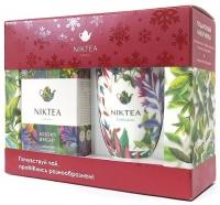 Новогодний подарочный набор Niktea Ассорти Брайт красный с белой кружкой