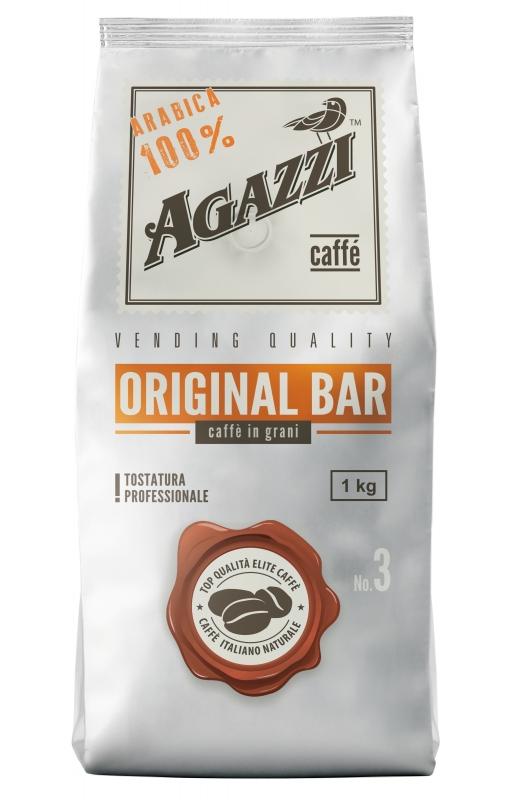 Кофе Agazzi Original Bar №3 жареный в зернах, средняя обжарка 1 кг
