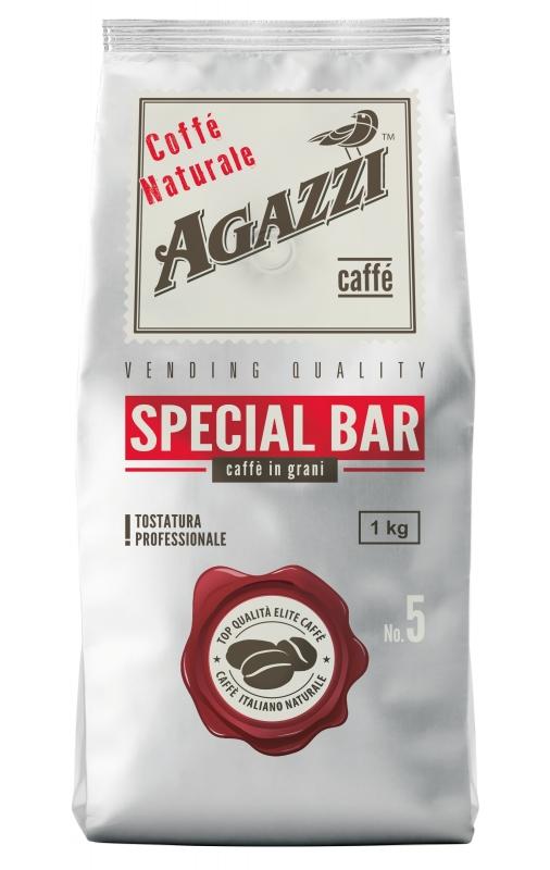 Кофе Agazzi Special Bar жареный в зернах, темная обжарка 1 кг