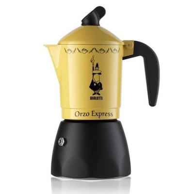Гейзерная кофеварка Bialetti Orzo Express Gialla , 2328/MR, 2 п. желтая на 2 чашки