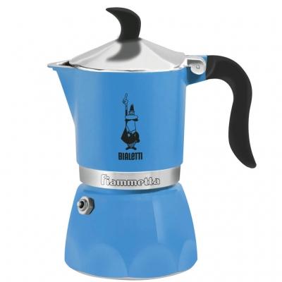 Гейзерная кофеварка Bialetti Fiametta голубой на 3 чашки