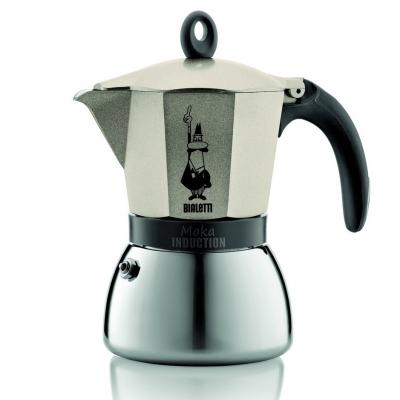 Гейзерная кофеварка Bialetti Moka Induzione золотистый на 3 чашки