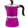 Гейзерная кофеварка Bialetti Fiametta королевская фуксия на 3 чашки