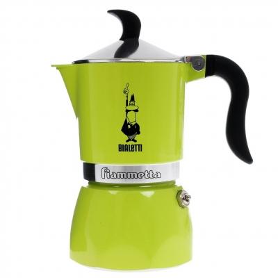 Гейзерная кофеварка Bialetti Fiametta лайм на 3 чашки