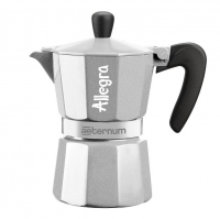 Гейзерная кофеварка Bialetti Allegra серебряная на 6 чашек