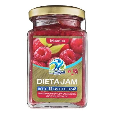 Джем Biomeals низкокалорийный Dieta-Jam Малина 230 г