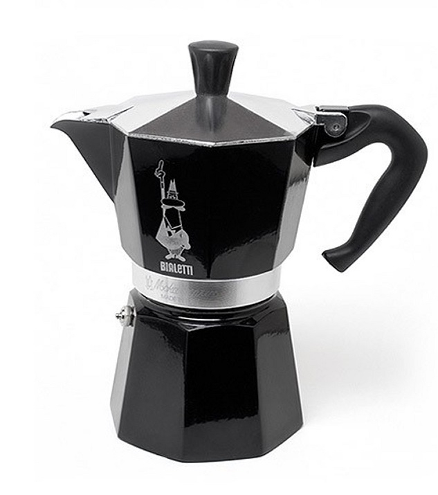 Гейзерная кофеварка Bialetti Moka Express Black (Биалетти Мока Экспресс) на 6 чашек 360 мл