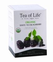 """Чай в пирамидках органический """"Tea of life"""" Белый чай с ежевикой."""