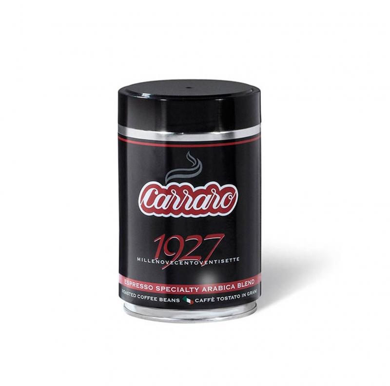 Кофе Carraro 1927 Arabica 100% зерновой в железной банке 250 г