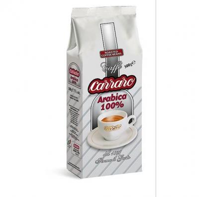 Кофе Carraro Arabica 100% зерновой 500 г