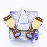 Набор имбирных пряников Cookie Craft Праздничное шампанское 280 гр