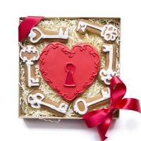 Набор имбирных пряников Cookie Craft Ключ от сердца 250 гр