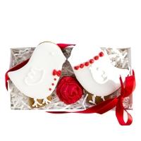Набор имбирных пряников Cookie Craft Птички молодожены 100 гр