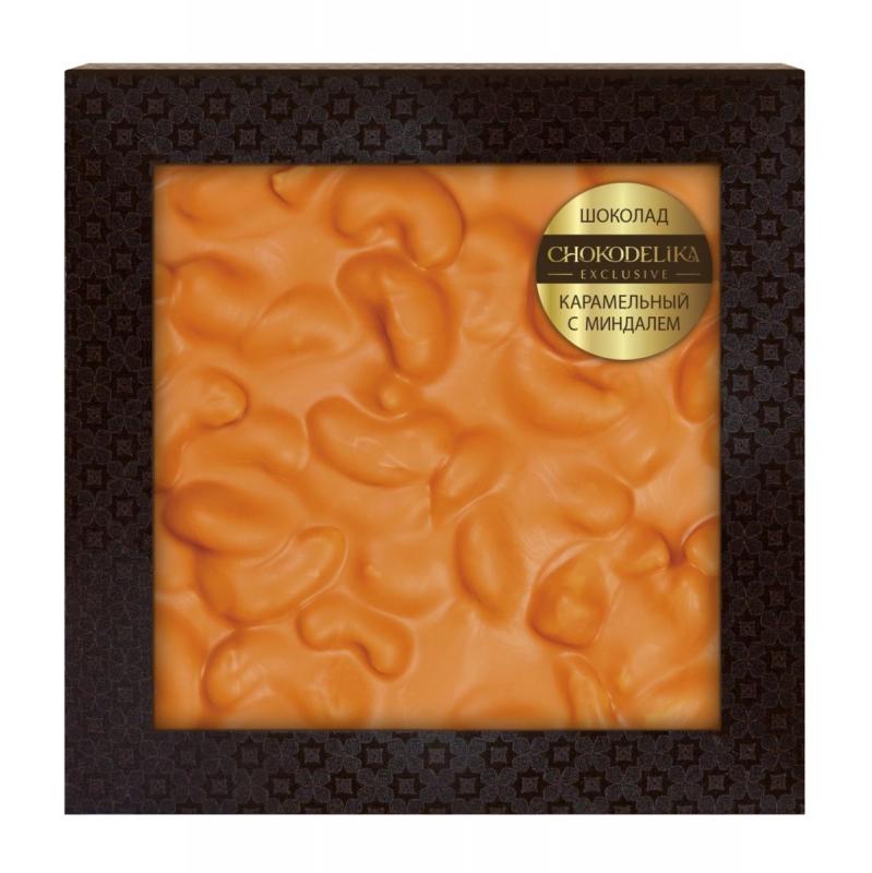 Неровный шоколад Chokodelika белый апельсиновый с кешью (блистер)
