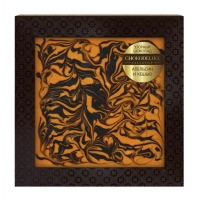 Узорный шоколад Chokodelika Апельсин и кешью (блистер)