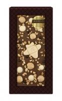 Шоколад молочный с украшением с фундуком, крокантом и карамелью 100 г