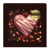 Шоколад cердце в шоколаде с клубникой 90 г