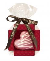 Шоколад белый cердце малиновое 30 г
