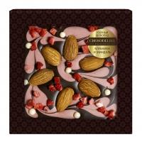 Шоколад узорный клубника и миндаль 80 г