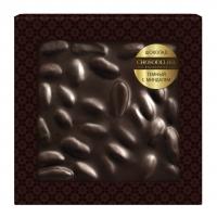 Шоколад неровный темный с миндалем 80 г