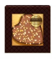 Конфета Сердце Марципановое в карамельном шоколаде 30 г