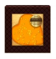 Конфета Сердце Марципановое в апельсиновым шоколаде 30 г